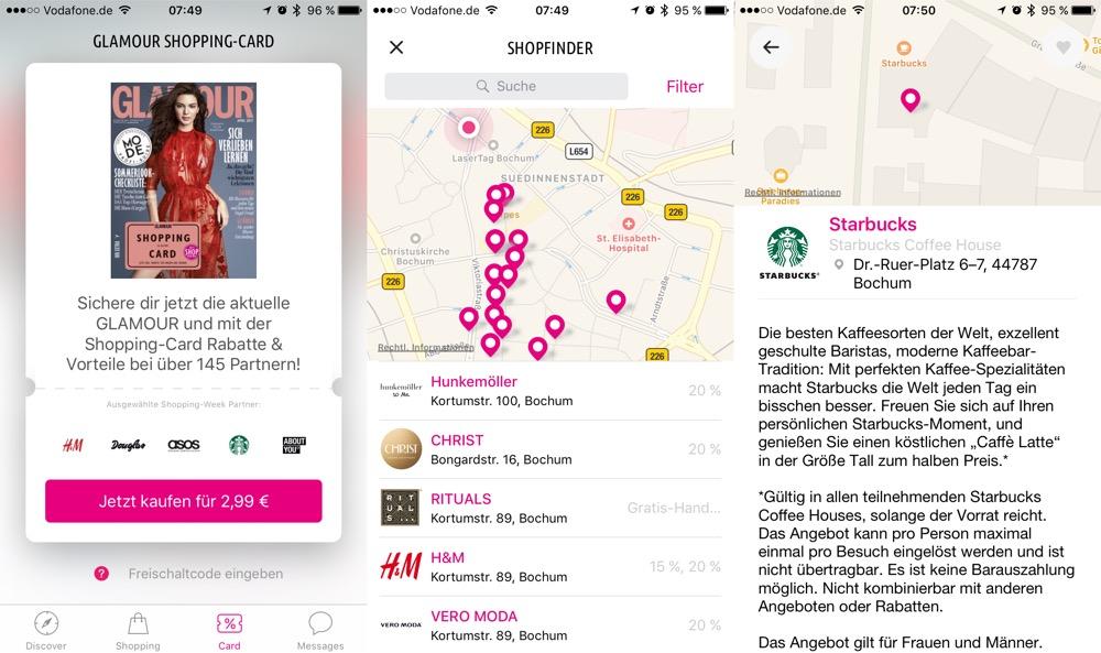 Glamour Shopping Week App