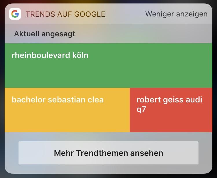 Google Trends Widget
