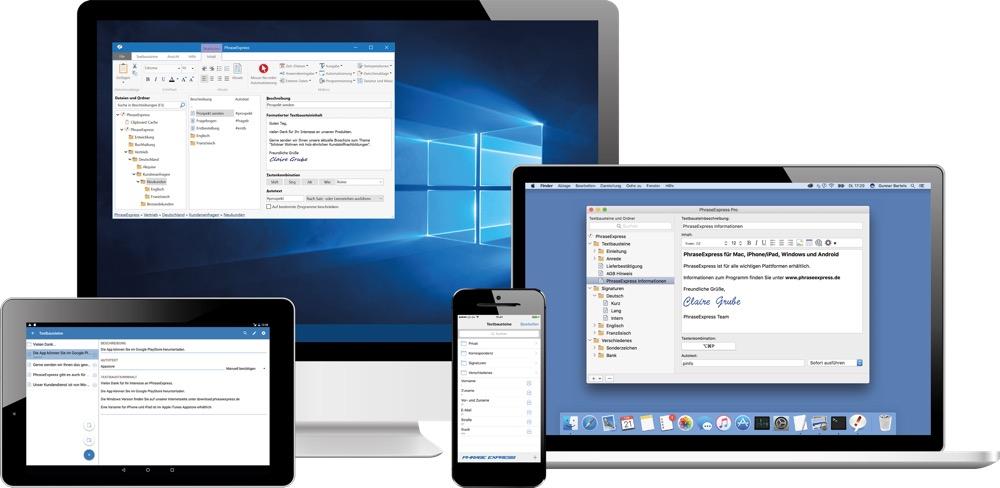 PhraseExpress Mac iOS