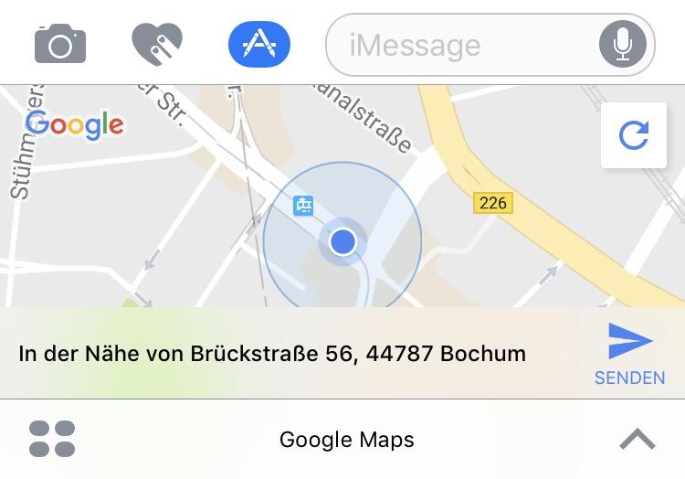 google maps imessage