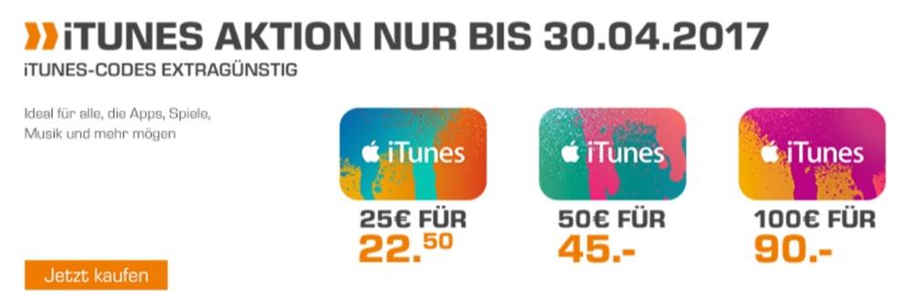 iTunes Karten Saturn