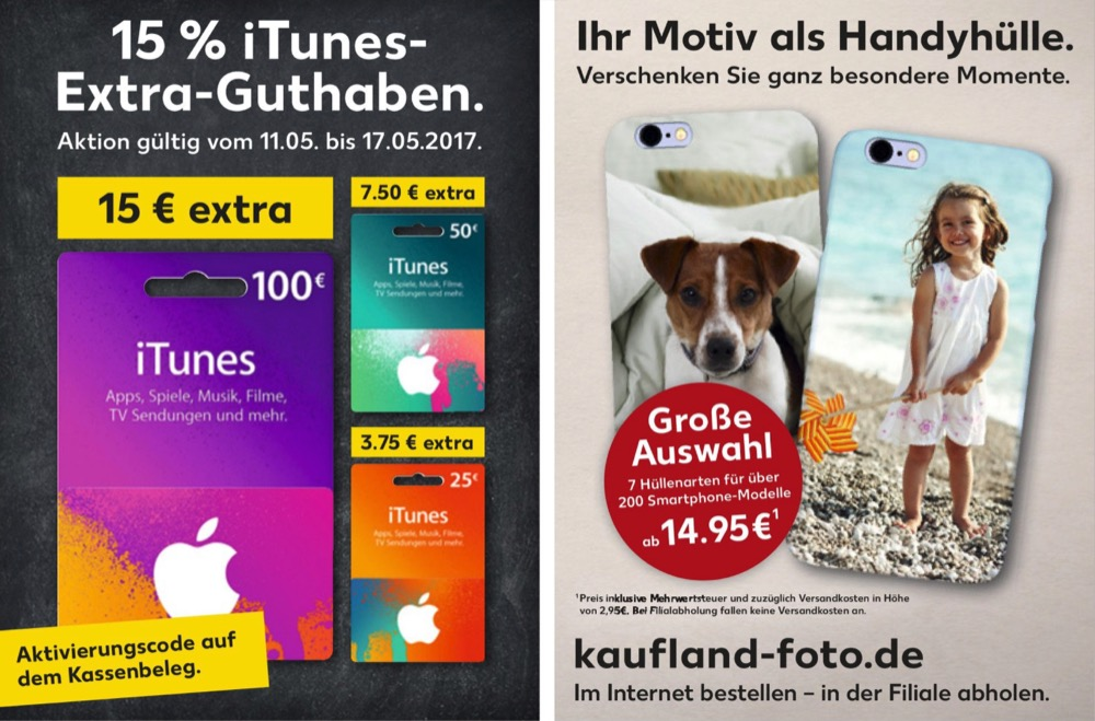 Kaufland iTunes Karten