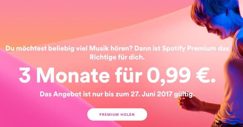 Spotify drei Monate