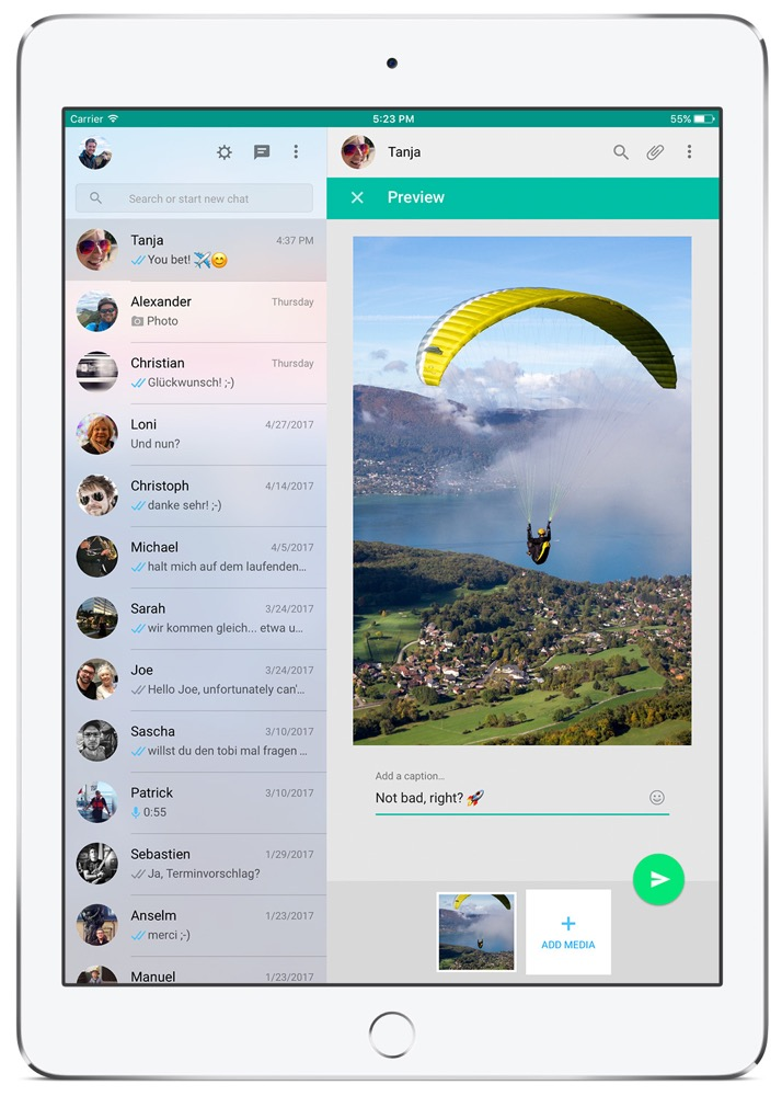 chatmate for whatsapp ipad media