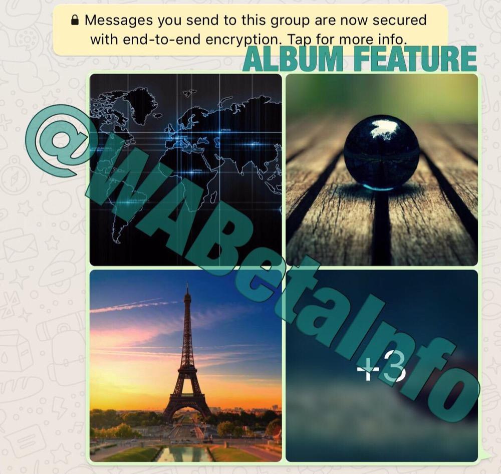 whatsapp foto album