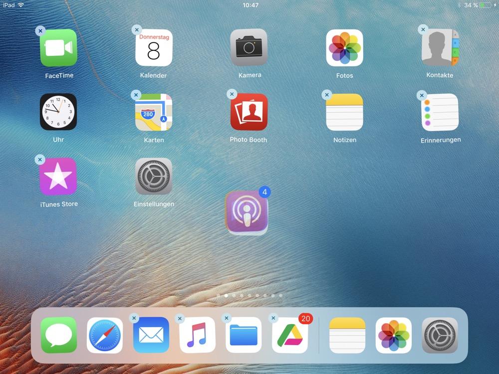 ios 11 apps verschieben
