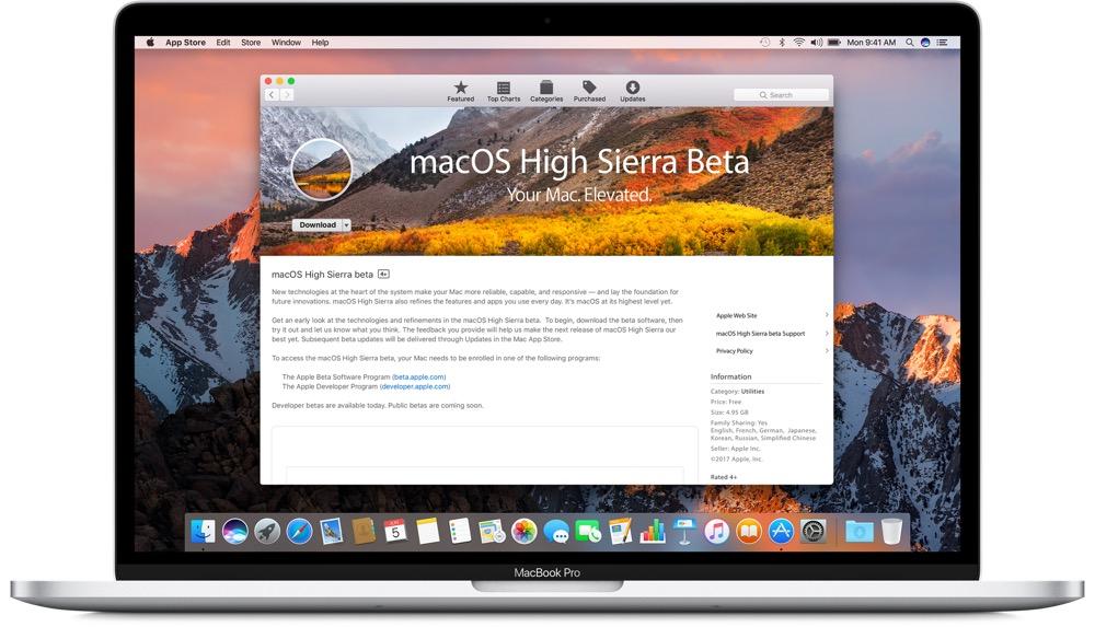 macos high sierra public beta