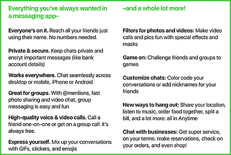 amazon-anytime-chat-app-feature-list-1