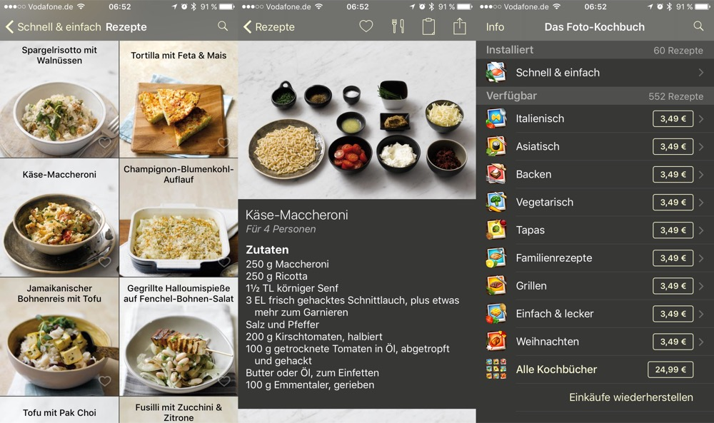 Das Foto-Kochbuch iPhone