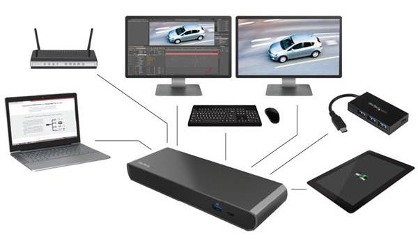 StarTech Thunderbolt 3 Dual-4K Dockingstation