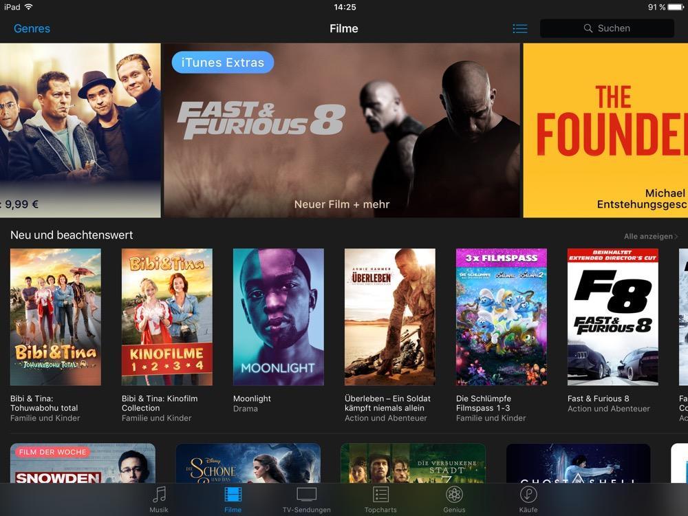 iTunes Filme