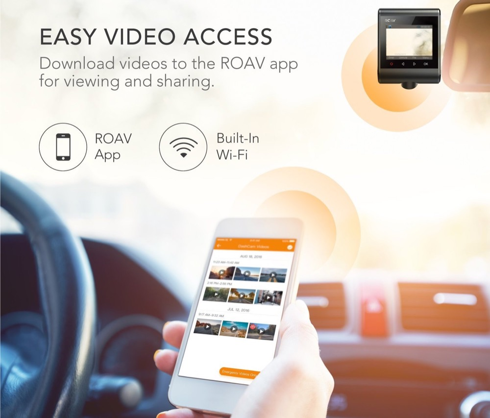 roav dashcam c1 test kamera f r die windschutzscheibe mit app. Black Bedroom Furniture Sets. Home Design Ideas