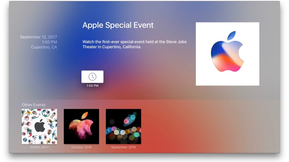 Apple TV Keynote