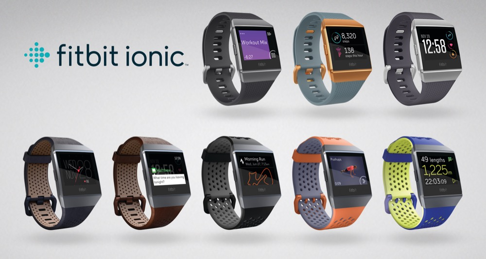 Product line up of all Ionic bands