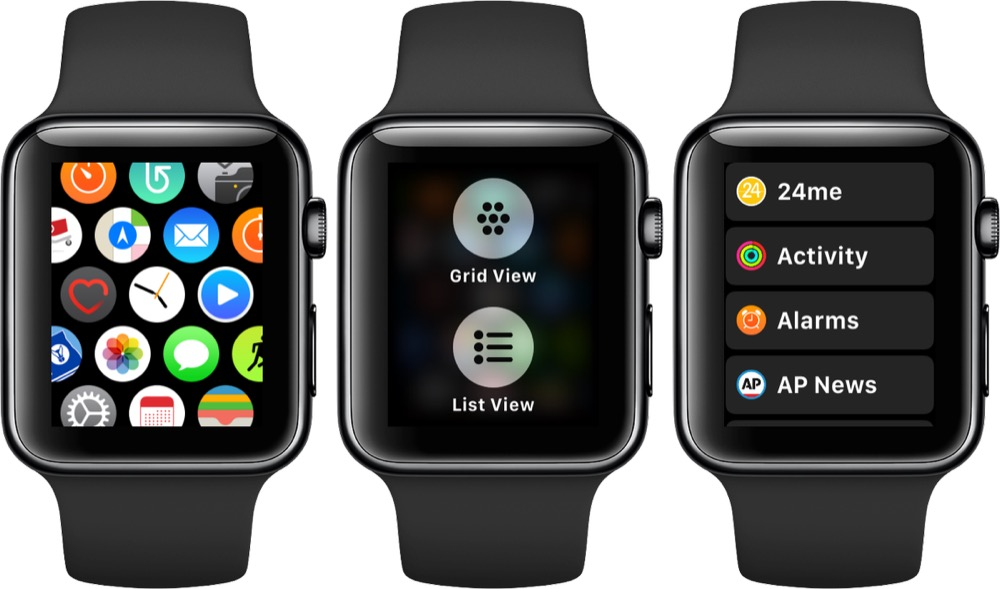 apple watch listendarstellung