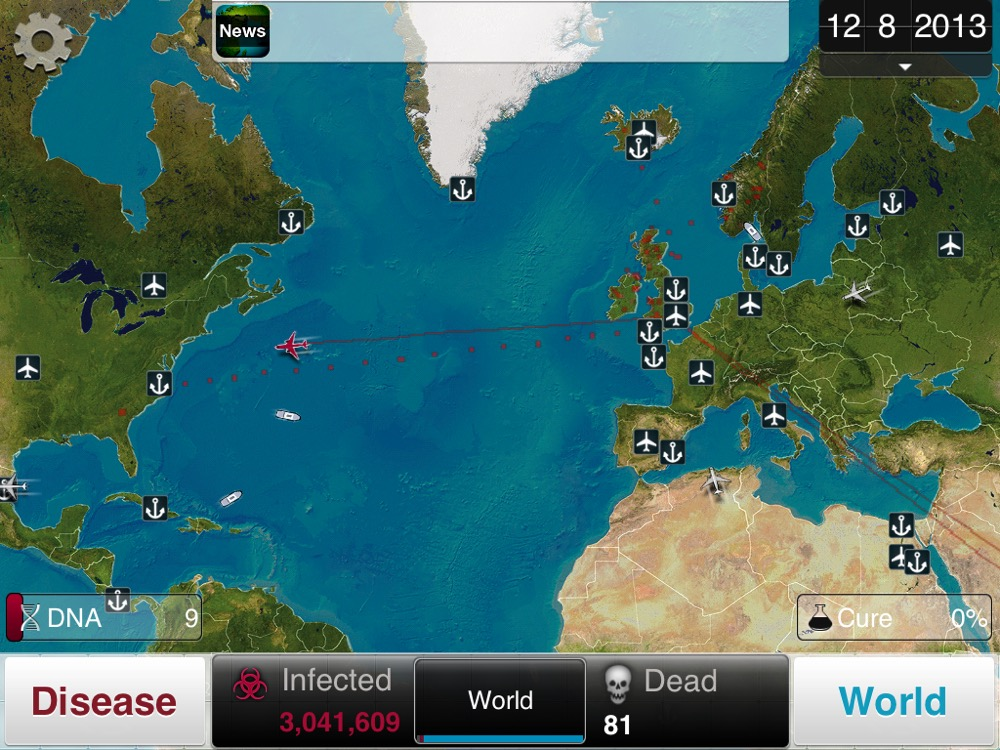 plague inc disease spread