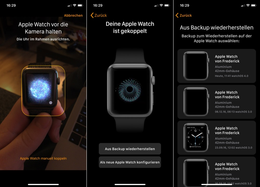 apple watch iphone x kopeln