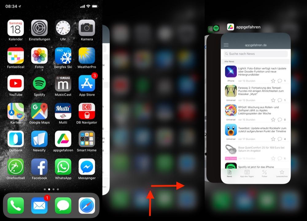 iPhone X Multitasking 1