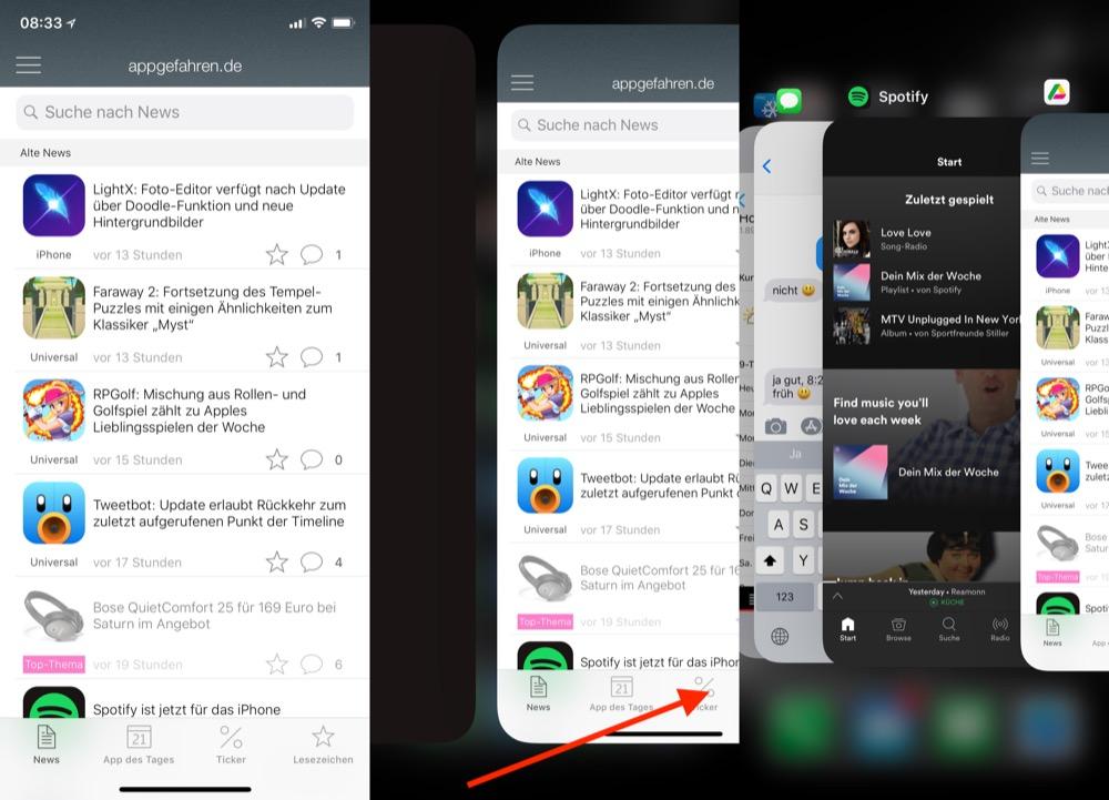 iPhone X Multitasking 2