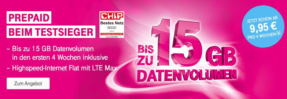 15 Gb Datenvolumen