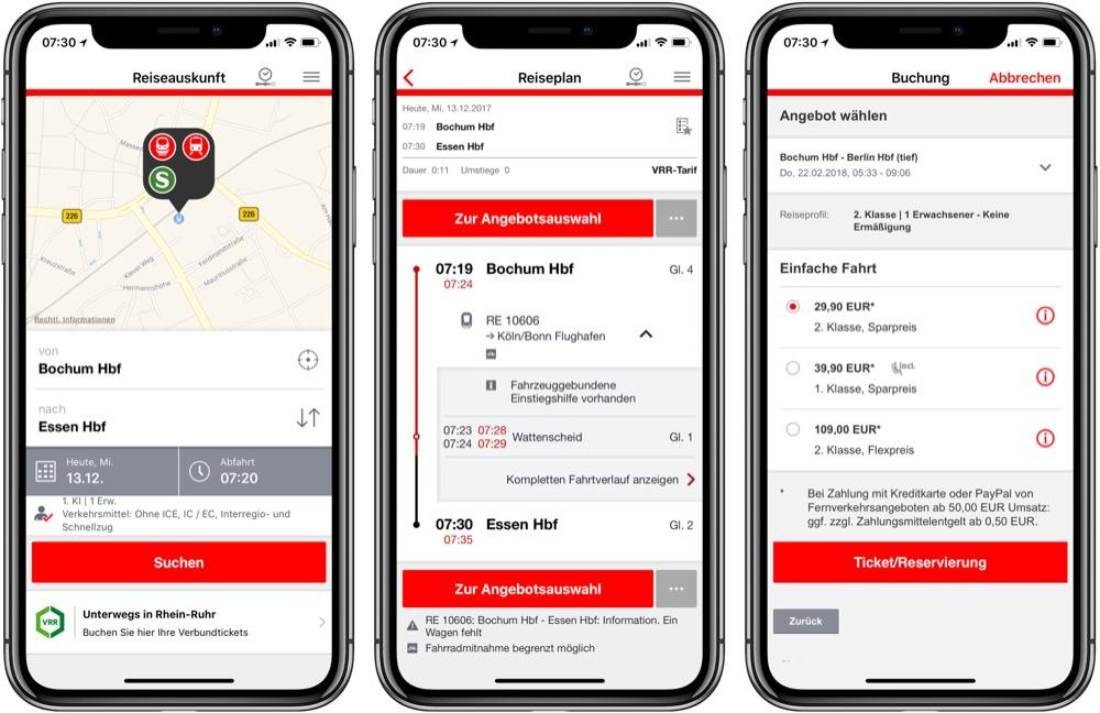 DB Navigator iphone x