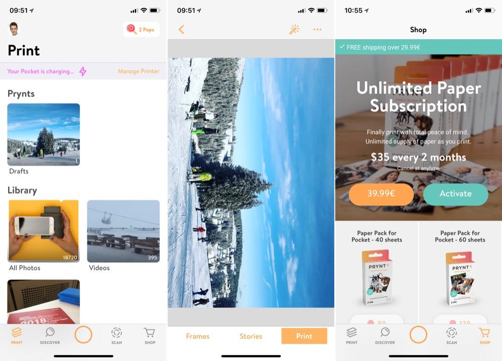 Prynt Pocket app