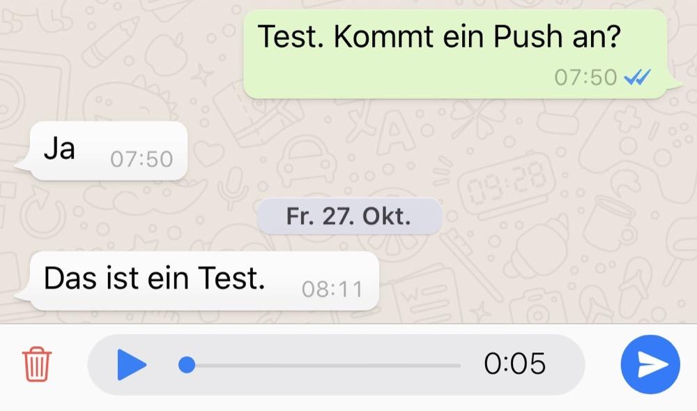 whatsapp sprachnachricht