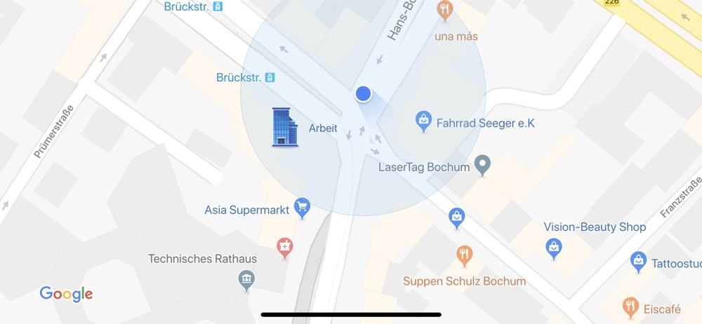 google maps sticker arbeit