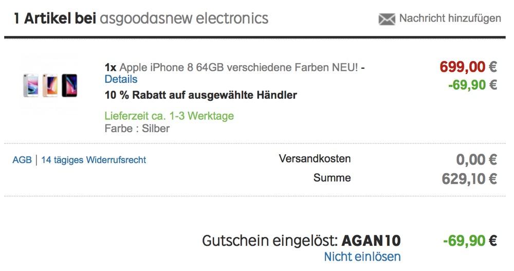 iphone 8 reduziert