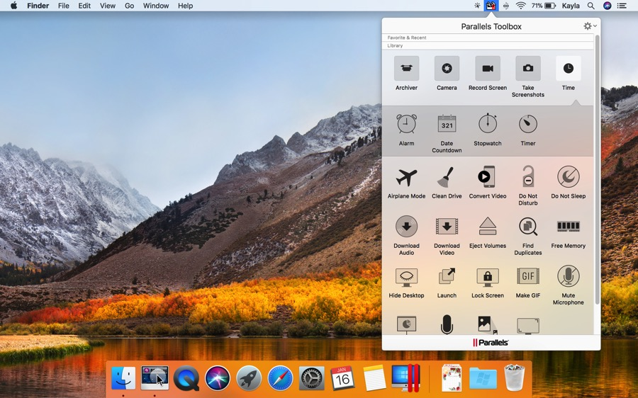 parallels toolbox mac