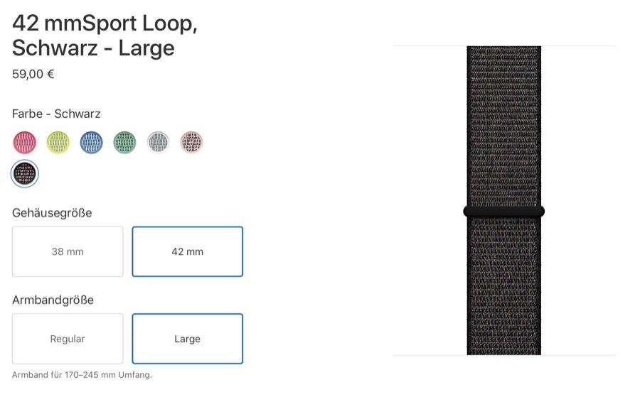 Apple Sport Loop Armband Large