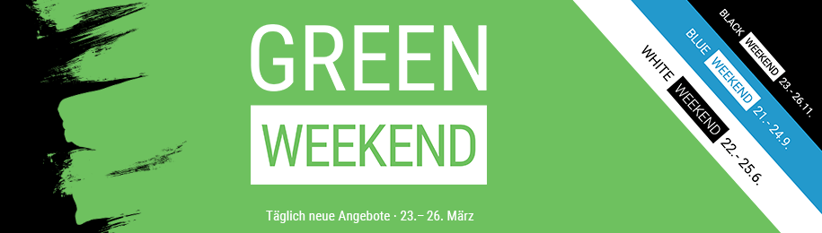 Green Weekend Banner