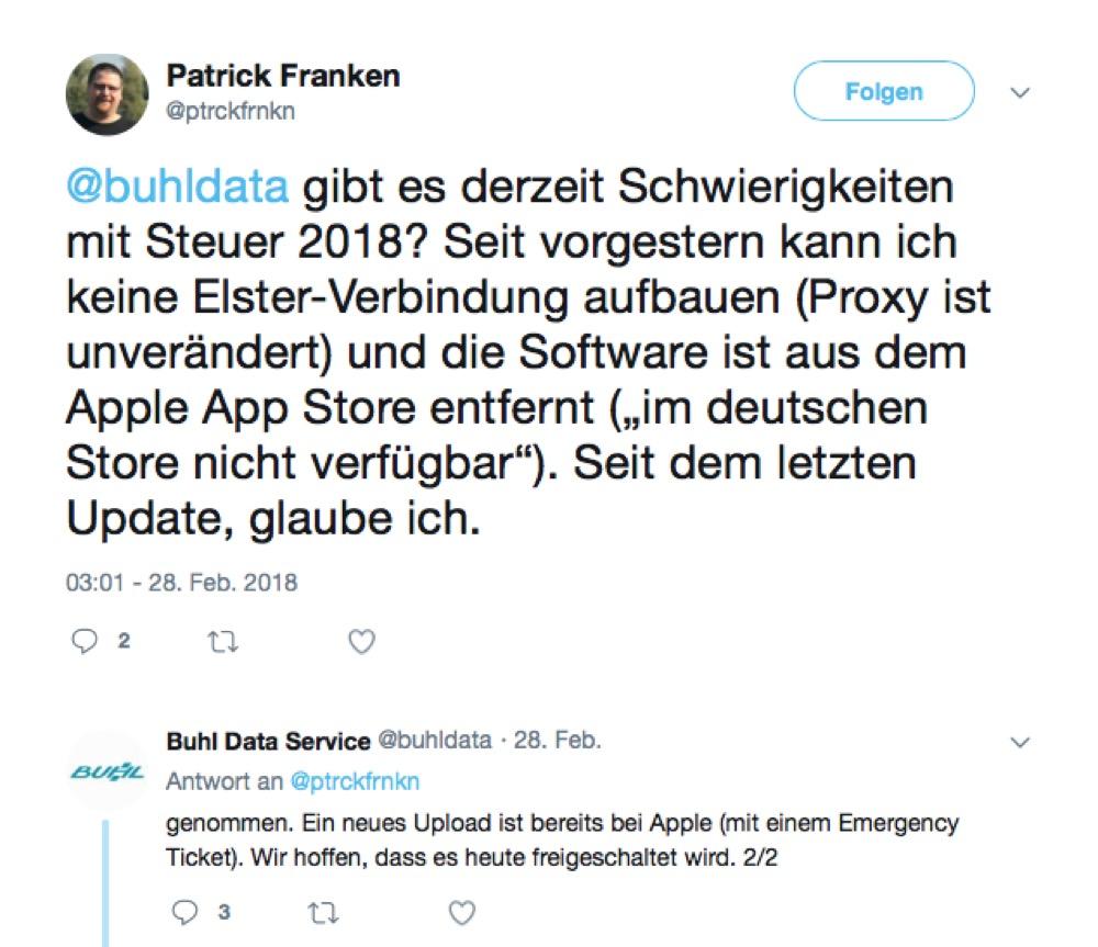 WISO Steuer 2018 Twitter