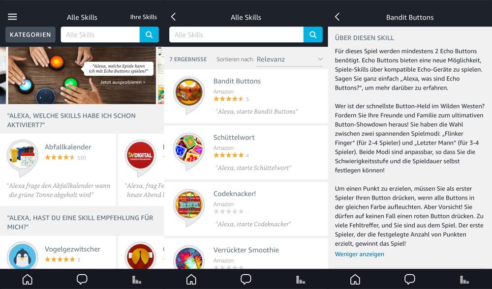 Alexa App Echo Buttons