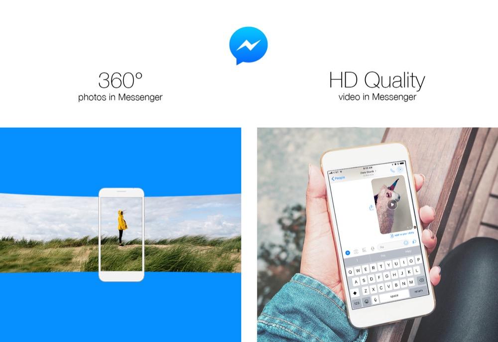 faceook messenger 360 grad fotos