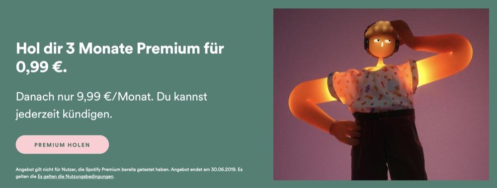 Spotify Premium 3 Monate 99 Cent