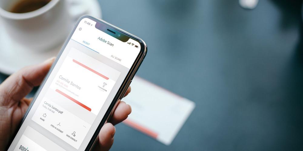 Adobe Scan Scanner App Bald Mit Verbesserter Visitenkarten