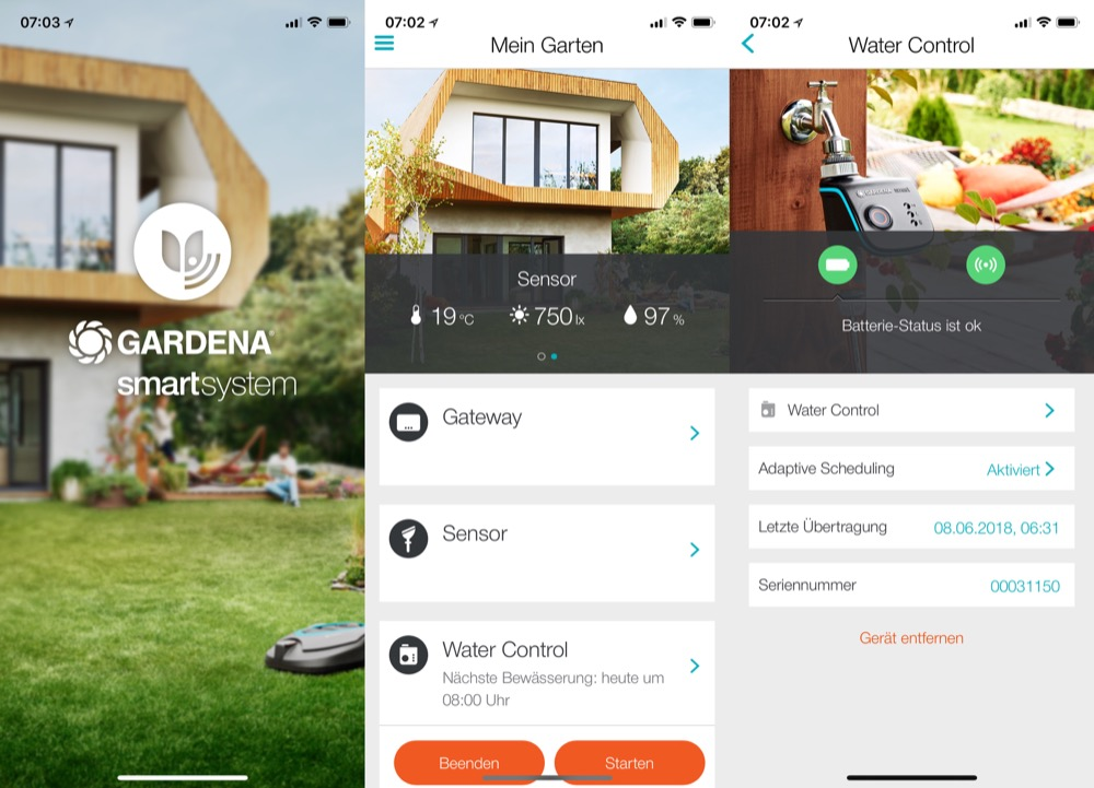 Gardena Smart System iPhone X
