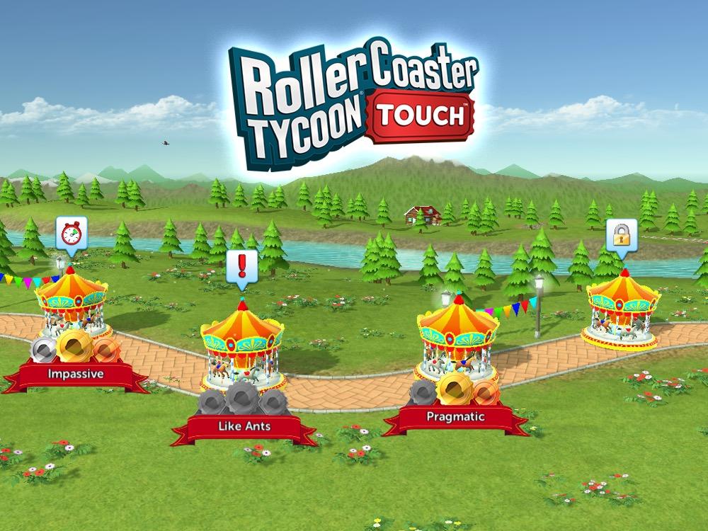RollerCoaster Tycoon Touch Szenarios