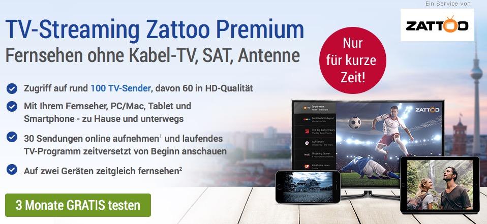 Zattoo Angebot GMX