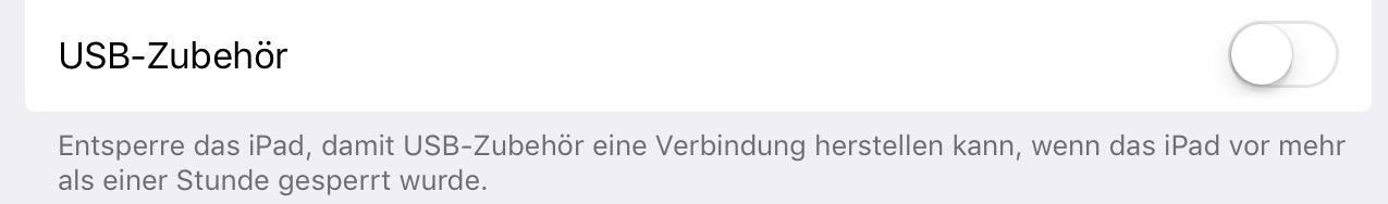 iOS 12 USB