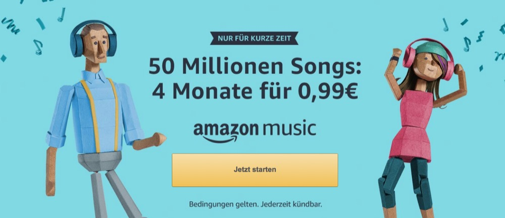 Amazon Music Unlimited Angebot