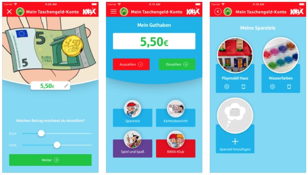 KNAX Taschengeld App