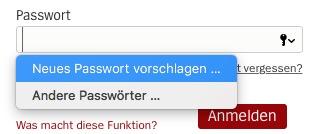 iCloud Schluesselbund Passwort