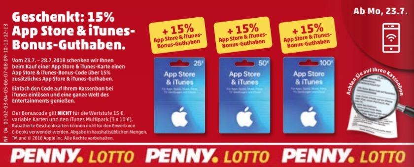 iTunes Karte Penny