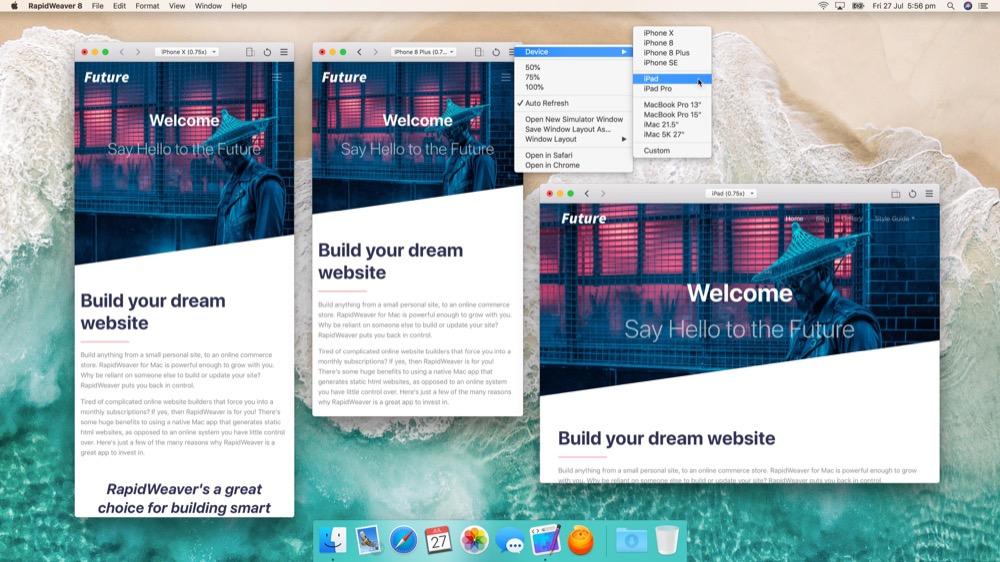 RapidWeaver 8 Mac 1