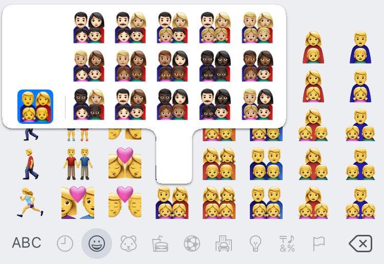 emoji familien