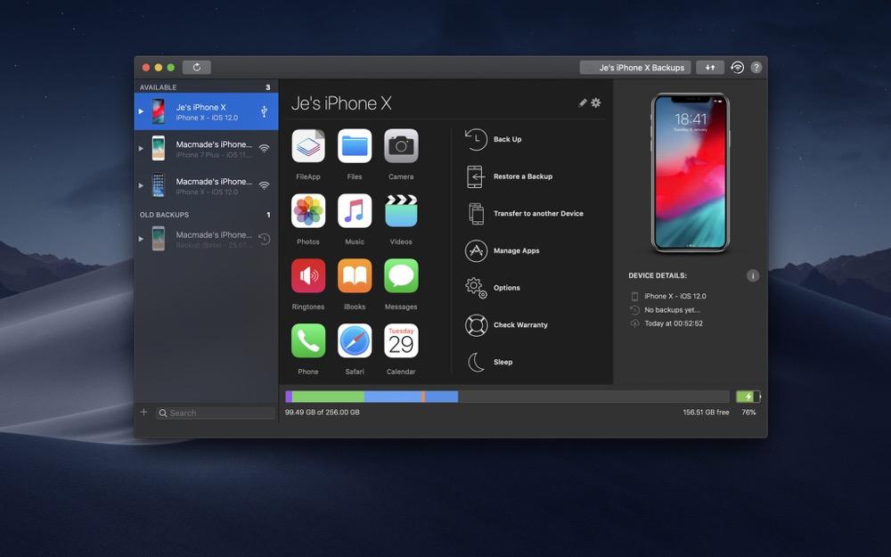 iMazing Mac Dark Mode