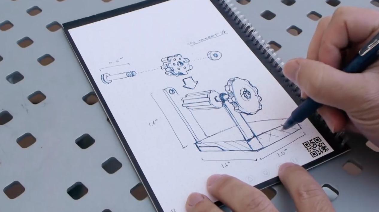Rocketbook Zeichnung