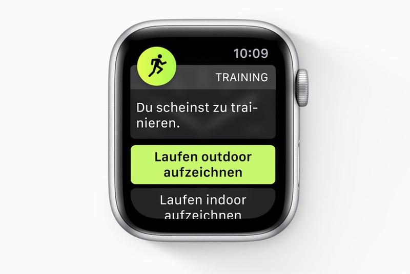 Apple Watch Trainingserkennung